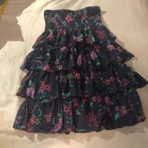 America Eagle Tube Top Ruffle Dress.